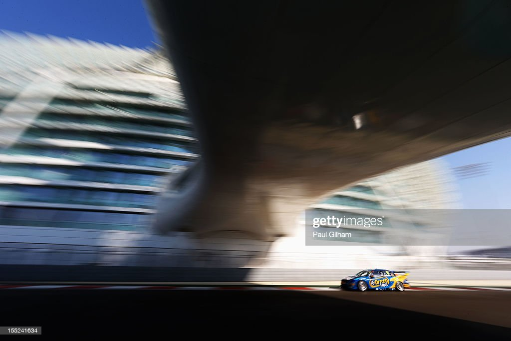 <a gi-track='captionPersonalityLinkClicked' href=/galleries/search?phrase=Mark+Winterbottom&family=editorial&specificpeople=675314 ng-click='$event.stopPropagation()'>Mark Winterbottom</a> drives the Orrcon Steel Ford Falcon during the V8 Supercars qualifying session at the Yas Marina Circuit on November 2, 2012 in Abu Dhabi, United Arab Emirates.