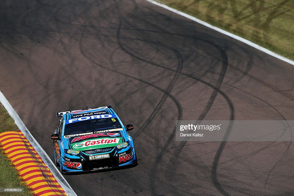 Mark Winterbottom drives the #5 Pepsi max Crew Ford during practice for the Triple Crown Darwin, which is round six of the V8 Supercar Championship Series at Hidden Valley Raceway on June 20, 2014 in Darwin, Australia.