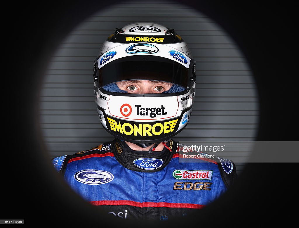 <a gi-track='captionPersonalityLinkClicked' href=/galleries/search?phrase=Mark+Winterbottom&family=editorial&specificpeople=675314 ng-click='$event.stopPropagation()'>Mark Winterbottom</a> of Ford Performance Racing poses during a V8 Supercars driver portrait session at Eastern Creek Raceway on February 15, 2013 in Sydney, Australia.
