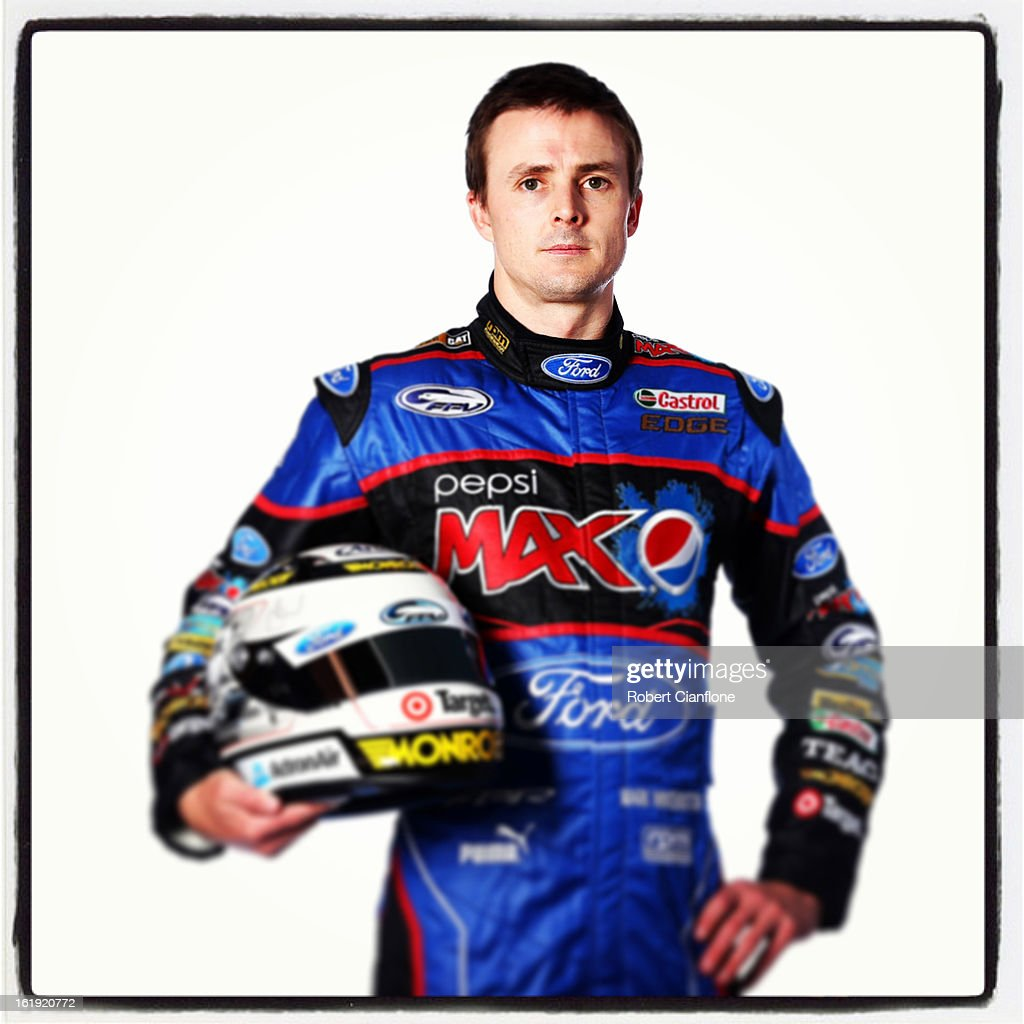 Mark Winterbottom of Ford Performance Racing poses during a V8 Supercars driver portrait session at Eastern Creek on February 15, 2013 in Sydney, Australia.