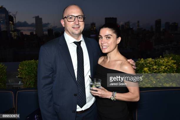 Mark Wlazlo and Irem Wlazlo attend The Junior Board of The TEAK Fellowship Presents A Midsummer Night at PhD Lounge at the Dream Downtown New York on...