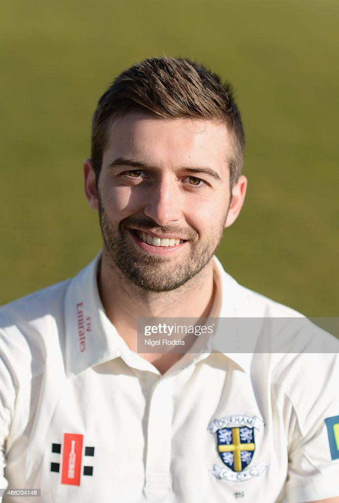 Mark Wood of Durham poses for a portrait during the Durham CCC Photocall at The Riverside on March 31 2015 in ChesterleStreet England