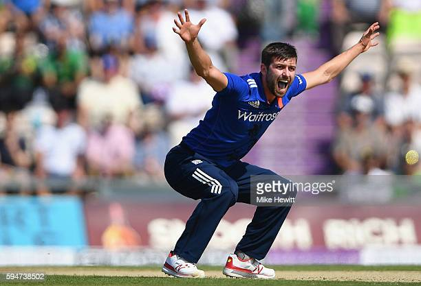 Mark Wood of England appeals unsuccessfully for lbw against Azhar Ali of Pakistan during the 1st One Day International between England and Pakistan...