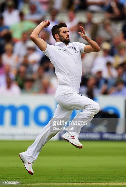 Mark Wood of England bowls during day one of the 2nd Investec Ashes Test match between England and Australia at Lord's Cricket Ground on July 16 2015...