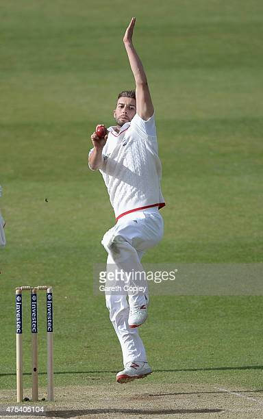Mark Wood of England bowls during day three of 2nd Investec Test match between England and New Zealand at Headingley on May 31 2014 in Leeds England