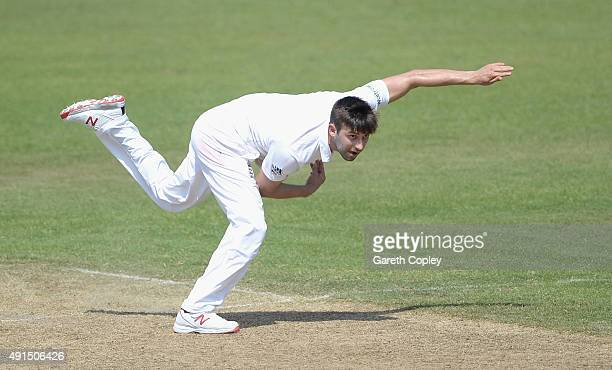 Mark Wood of England bowls during day two of the tour match between Pakistan A and England at Sharjah Cricket Stadium on October 6 2015 in Sharjah...