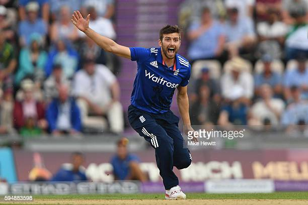 Mark Wood of England in action during the 1st One Day International between England and Pakistan at the Ageas Bowl on August 24 2016 in Southampton...