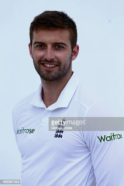 Mark Wood of England poses for a portrait after the England nets session at the Sir Vivian Richards Stadium on April 11 2015 in Antigua Antigua and...