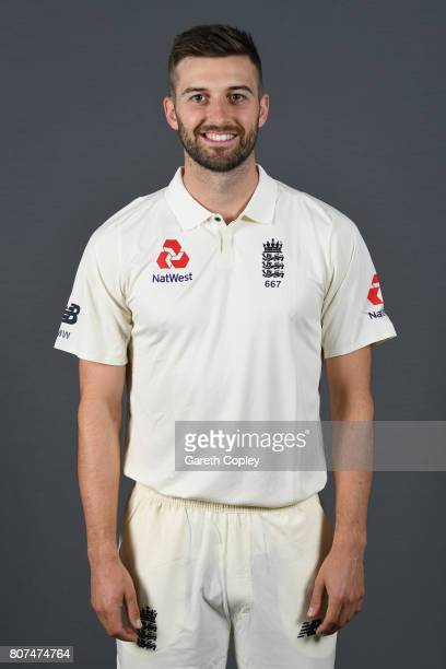 Mark Wood of England poses for a portrait at Lord's Cricket Ground on July 4 2017 in London England