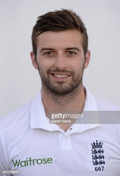 Mark Wood of England poses for a portrait at Zayed Cricket Stadium on October 11 2015 in Abu Dhabi United Arab Emirates
