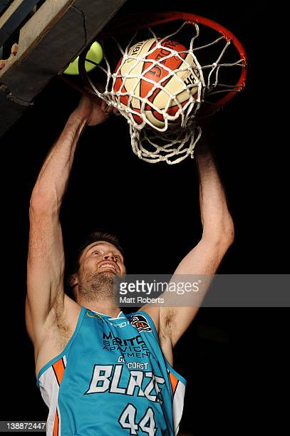 Mark Worthington of the Gold Coast Blaze poses during a NBL portrait session at Carrara Sports Stadium on February 13 2012 in Gold Coast Australia