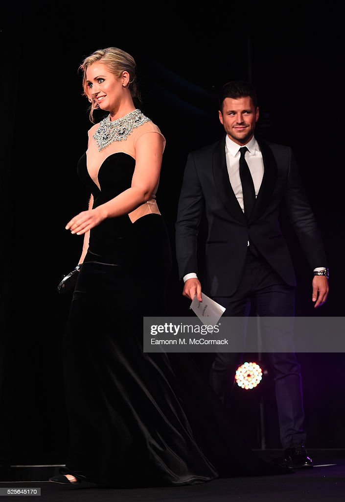 Mark Wright and Hayley McQueen present the Best Use of Social Media award to AELTC Wimbledon 2015: Sharing the Moments that Matter at the BT Sport Industry Awards 2016 at Battersea Evolution on April 28, 2016 in London, England. The BT Sport Industry Awards is the most prestigious commercial sports awards ceremony in Europe, where over 1750 of the industry's key decision-makers mix with high profile sporting celebrities for the most important networking occasion in the sport business calendar.