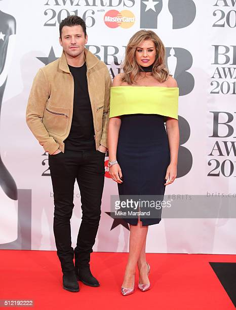 Mark Wright and Jessica Wright attends the BRIT Awards 2016 at The O2 Arena on February 24 2016 in London England