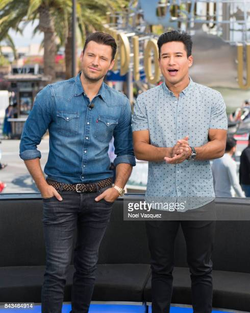 Mark Wright and Mario Lopez visit 'Extra' at Universal Studios Hollywood on September 6 2017 in Universal City California