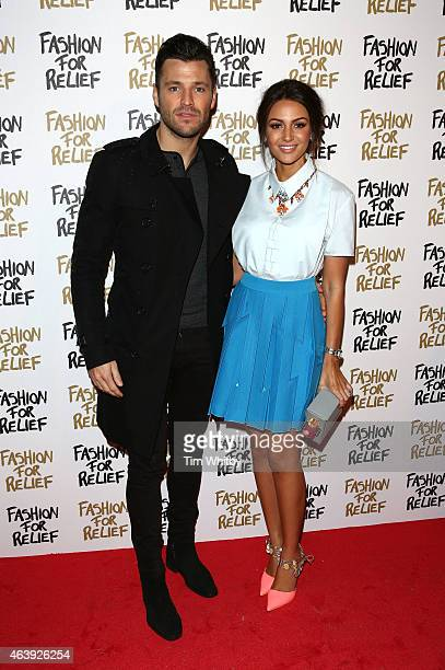 Mark Wright and Michelle Keegan attend the Fashion For Relief charity fashion show to kick off London Fashion Week Fall/Winter 2015/16 at Somerset...