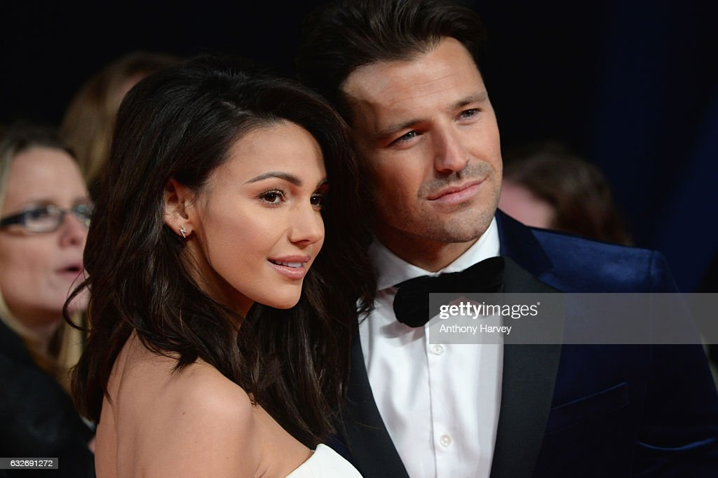 Mark Wright and Michelle Keegan attend the National Television Awards on January 25, 2017 in London, United Kingdom.