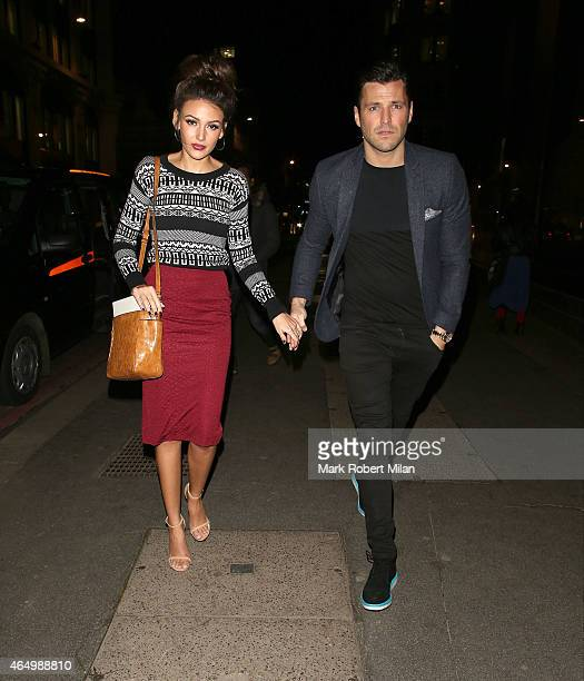 Mark Wright and Michelle Keegan attending The Sun Bizarre Party at Steam and Rye on March 2 2015 in London England