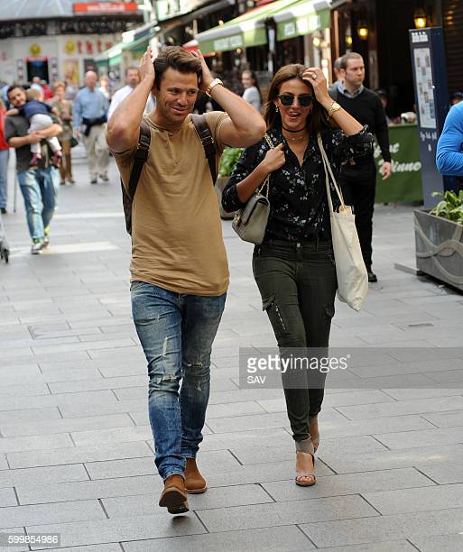 Mark Wright and Michelle Keegan leave the Global Offices in Leicester Square on September 7 2016 in London England