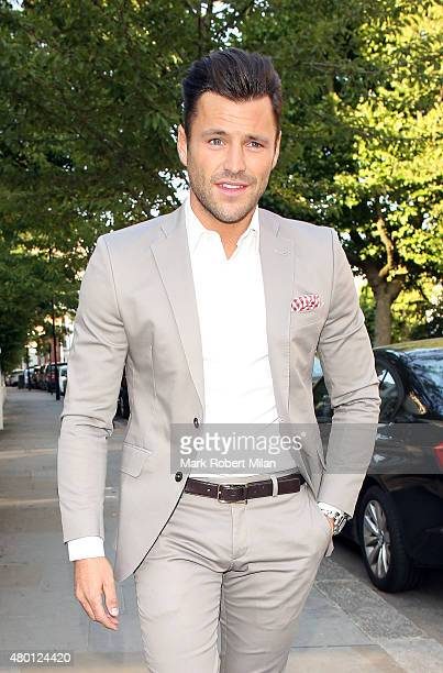 Mark Wright attending the ITV summer party in Notting Hill on July 9 2015 in London England
