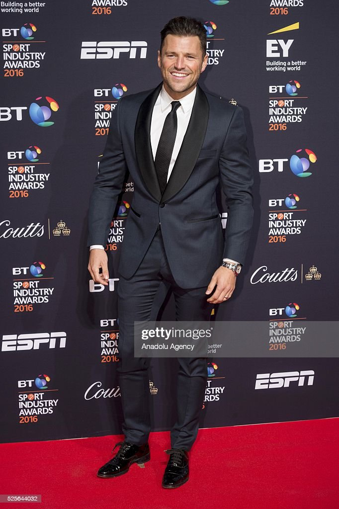 Mark Wright attends the BT Sport Industry Awards 2016 in London, United Kingdom on April 28, 2016.
