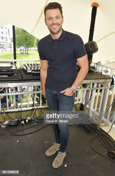 Mark Wright DJs during Ladies Day of the 2017 Investec Derby Festival at The Jockey Club's Epsom Downs Racecourse at Epsom Racecourse on June 2 2017...