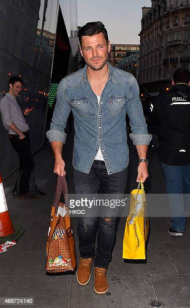 Mark Wright leaves The MM Store on April 14 2015 in London England