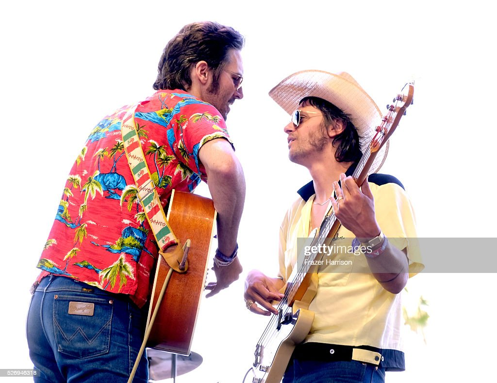 Mark Wystrach (L) and Cameron Duddy of the band Midland perform onstage during 2016 Stagecoach California's Country Music Festival at Empire Polo Club on May 01, 2016 in Indio, California.