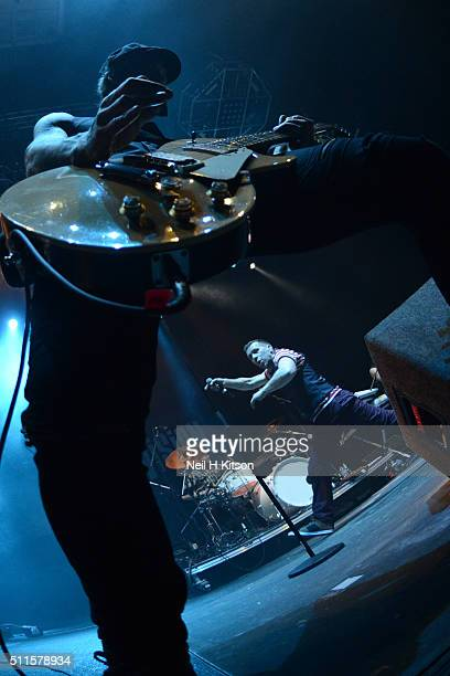 Mark Yates and Tony Wright of Terrorvision perform at Motorpoint Arena on February 19 2016 in Sheffield England