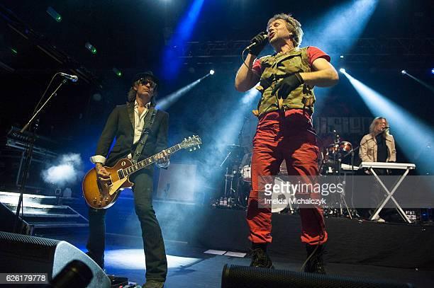 Mark Yates Tony Wright and Milton Evans of Terrorvision perform at KOKO on November 27 2016 in London England