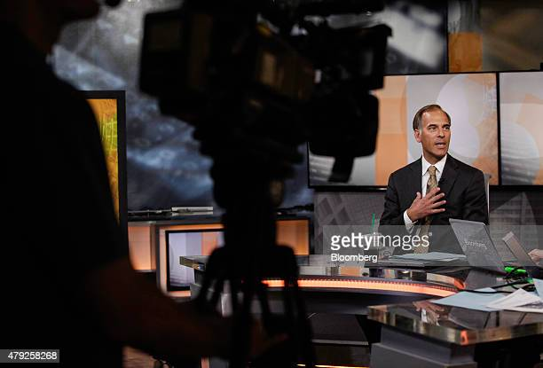 Mark Zandi chief economist at Moody's Analytics Inc speaks during a Bloomberg Television interview in New York US on Thursday July 2 2015 Zandi...