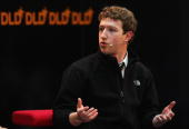 Mark Zuckerberg CEO of Facebook attends the Digital Life Design conference on January 27 2009 in Munich Germany DLD brings together global leaders...