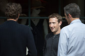 Mark Zuckerberg chief executive officer and cofounder of Facebook Inc attends the annual Allen Company Sun Valley Conference July 6 2016 in Sun...