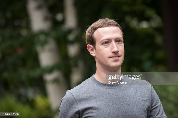 Mark Zuckerberg chief executive officer and founder of Facebook Inc attends the fourth day of the annual Allen Company Sun Valley Conference July 14...