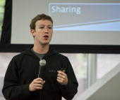 Mark Zuckerberg chief executive officer of Facebook holds a press conference at their headquarters May 26 2010 in Palo Alto California Zuckerberg...