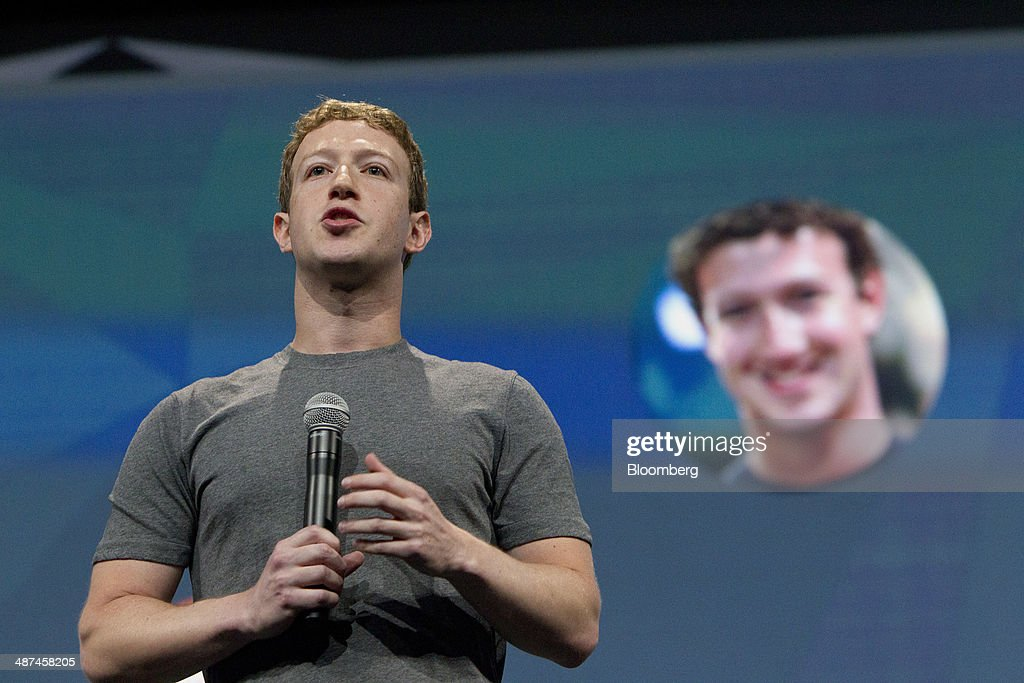 <a gi-track='captionPersonalityLinkClicked' href=/galleries/search?phrase=Mark+Zuckerberg&family=editorial&specificpeople=4841191 ng-click='$event.stopPropagation()'>Mark Zuckerberg</a>, chief executive officer of Facebook Inc., speaks during the Facebook F8 Developers Conference in San Francisco, California, U.S., on Wednesday, April 30, 2014. Facebook will offer software developers improved tools to create programs that run on any smartphone and a more streamlined experience for people to log into apps, including the option to sign in anonymously. Photographer: Erin Lubin/Bloomberg via Getty Images