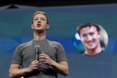 Mark Zuckerberg chief executive officer of Facebook Inc speaks during the Facebook F8 Developers Conference in San Francisco California US on...