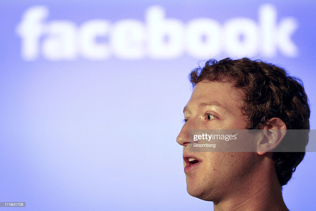 <a gi-track='captionPersonalityLinkClicked' href=/galleries/search?phrase=Mark+Zuckerberg&family=editorial&specificpeople=4841191 ng-click='$event.stopPropagation()'>Mark Zuckerberg</a>, co-founder and chief executive officer of Facebook Inc., speaks during a news conference at the company's headquarters in Palo Alto, California, U.S., on Thursday, April 7, 2011. Zuckerberg plans to share the social-networking site's data-center and server designs with other companies to help the technology industry become more efficient. The effort, called the Open Compute Project, will provide access to technology Facebook developed with Intel Corp., Advanced Micro Devices Inc., Hewlett-Packard Co. and Dell Inc. Photographer: Tony Avelar/Bloomberg via Getty Images