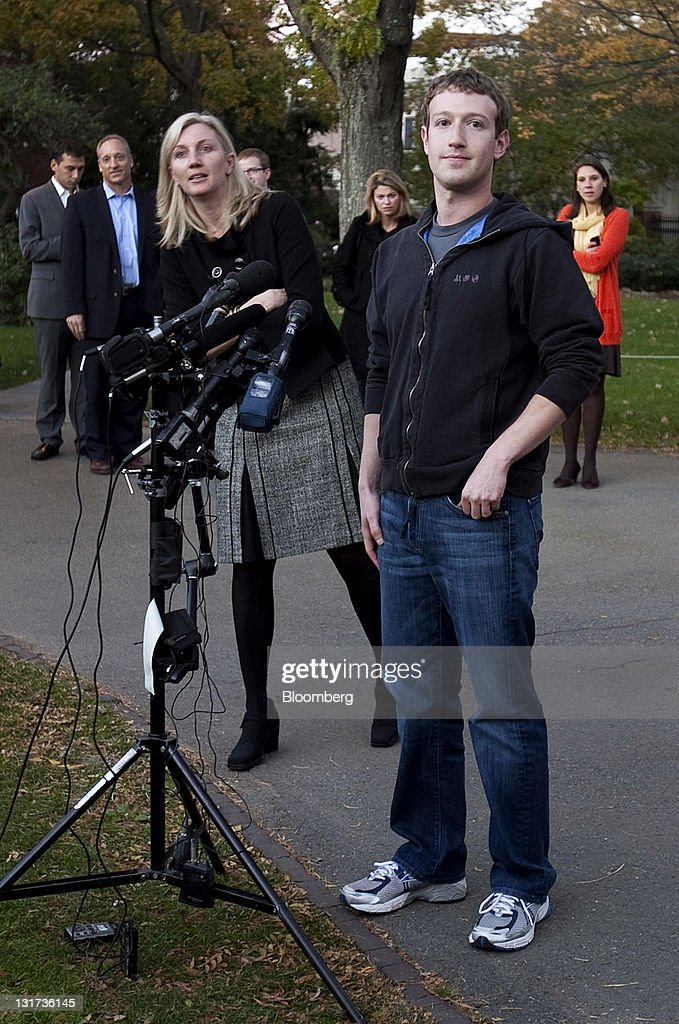 <a gi-track='captionPersonalityLinkClicked' href=/galleries/search?phrase=Mark+Zuckerberg&family=editorial&specificpeople=4841191 ng-click='$event.stopPropagation()'>Mark Zuckerberg</a>, founder and chief executive officer of Facebook Inc., waits to speak during a news conference at Harvard University in Cambridge, Massachusetts, U.S., on Monday, Nov. 7, 2011. Zuckerberg said Apple Inc. co-founder Steve Jobs advised him on how to sharpen his company's focus and build the right management team for the world's largest social network. Photographer: Kelvin Ma/Bloomberg via Getty Images