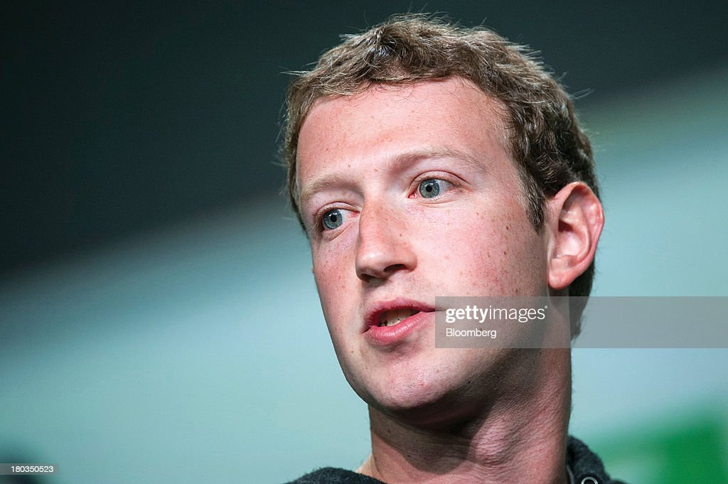 Mark Zuckerberg, founder and chief executive officer of Facebook Inc., speaks at the TechCrunch Disrupt SF 2013 conference in San Francisco, California, U.S., on Wednesday, Sept. 11, 2013. Zuckerberg, who has been pushing for a revision of U.S. immigration law, plans to meet with the top four Republicans in the House next week in Washington. Photographer: David Paul Morris/Bloomberg via Getty Images