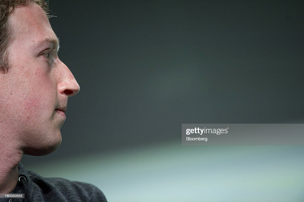 Mark Zuckerberg, founder and chief executive officer of Facebook Inc., attends the TechCrunch Disrupt SF 2013 conference in San Francisco, California, U.S., on Wednesday, Sept. 11, 2013. Zuckerberg, who has been pushing for a revision of U.S. immigration law, plans to meet with the top four Republicans in the House next week in Washington. Photographer: David Paul Morris/Bloomberg via Getty Images