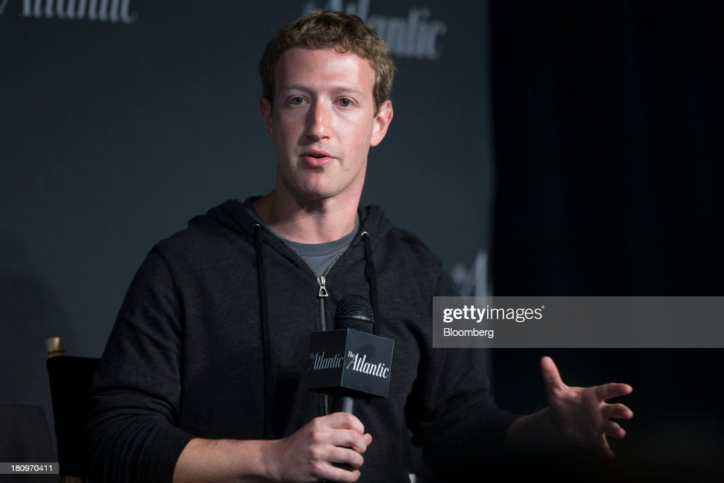 Mark Zuckerberg, founder and chief executive officer of Facebook Inc., speaks during an interview at the Newseum in Washington, D.C., U.S., on Wednesday, Sept. 18, 2013. Zuckerberg said helping 11 million undocumented U.S. residents is the most important aspect of immigration issues he's exploring with congressional leaders during a Washington visit. Photographer: Andrew Harrer/Bloomberg via Getty Images