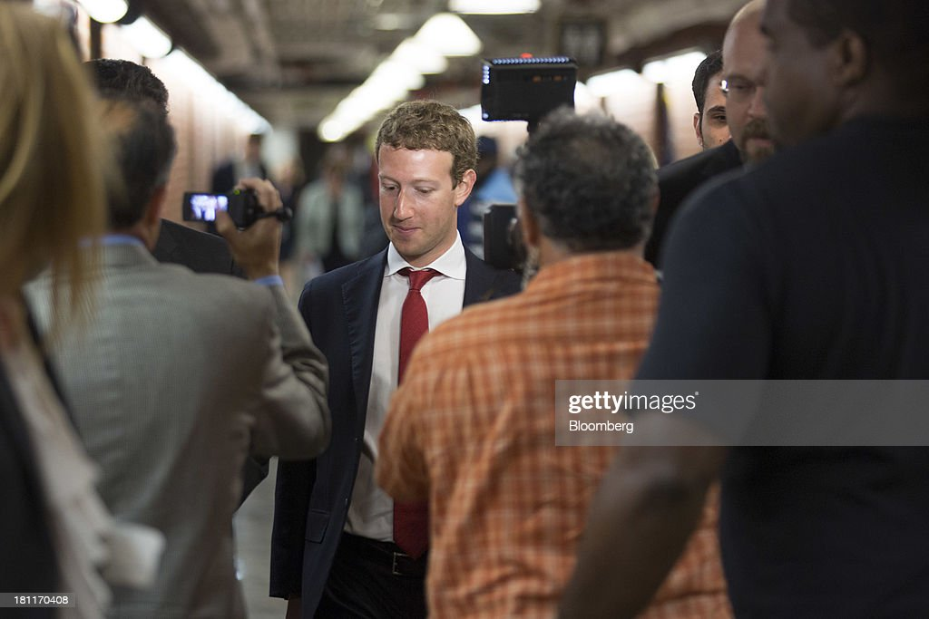 <a gi-track='captionPersonalityLinkClicked' href=/galleries/search?phrase=Mark+Zuckerberg&family=editorial&specificpeople=4841191 ng-click='$event.stopPropagation()'>Mark Zuckerberg</a>, founder and chief executive officer of Facebook Inc., walks towards the Senate subway following a meeting with members of the Senate Committee on Commerce, Science and Transportation in Washington, D.C., U.S., on Thursday, Sept. 19, 2013. Zuckerberg in April announced the formation of an advocacy group, Fwd.us, to push for more visas for skilled immigrant workers. He pressed that cause yesterday in a meeting with Senator Charles Schumer, a New York Democrat. Photographer: Andrew Harrer/Bloomberg via Getty Images