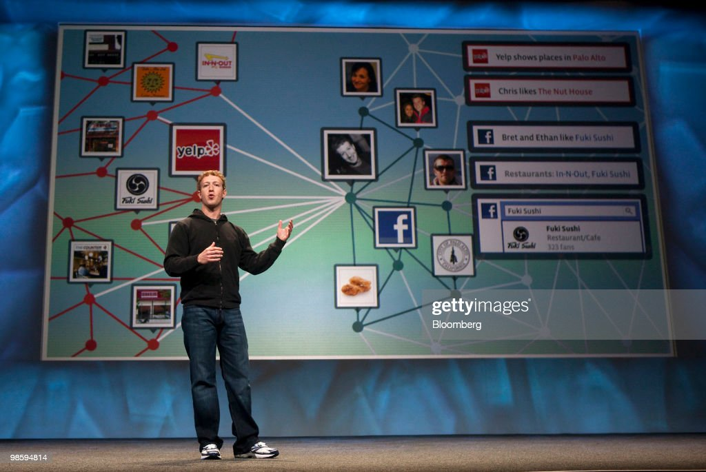 <a gi-track='captionPersonalityLinkClicked' href=/galleries/search?phrase=Mark+Zuckerberg&family=editorial&specificpeople=4841191 ng-click='$event.stopPropagation()'>Mark Zuckerberg</a>, founder and chief executive officer of Facebook Inc., gives a keynote address at the annual F8 developer conference in San Francisco, California, U.S., on Wednesday, April 21, 2010. Zuckerberg said he isn't counting on making money from the company's Facebook Credits online currency any time soon, even as he pumps resources into the project. Photographer: Kim White/Bloomberg via Getty Images