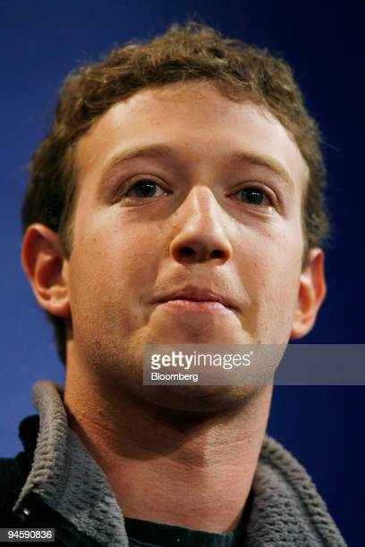 Mark Zuckerberg founder of Facebook participates in a discussion during the World Economic Forum in Davos Switzerland Thursday Jan 25 2007