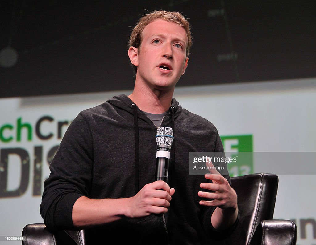 <a gi-track='captionPersonalityLinkClicked' href=/galleries/search?phrase=Mark+Zuckerberg&family=editorial&specificpeople=4841191 ng-click='$event.stopPropagation()'>Mark Zuckerberg</a> of Facebook attends Day 3 of TechCrunch Disrupt SF 2013 at San Francisco Design Center on September 11, 2013 in San Francisco, California.