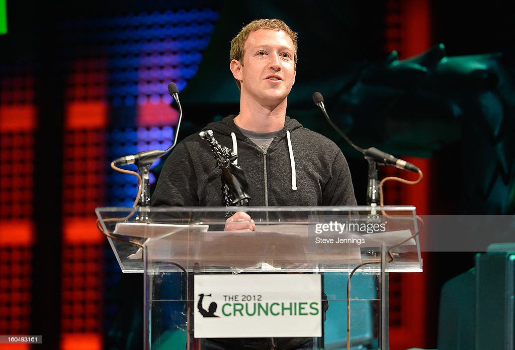 <a gi-track='captionPersonalityLinkClicked' href=/galleries/search?phrase=Mark+Zuckerberg&family=editorial&specificpeople=4841191 ng-click='$event.stopPropagation()'>Mark Zuckerberg</a> winner for CEO of the Year at the 6th Annual Crunchies Awards at Davies Symphony Hall on January 31, 2013 in San Francisco, California.