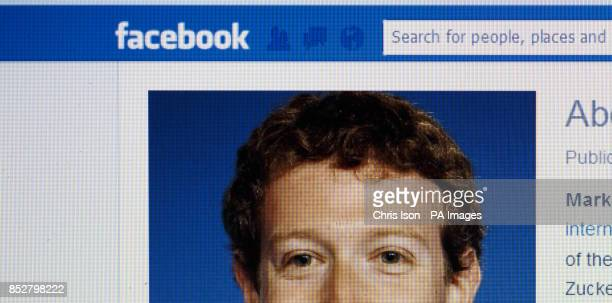 Mark Zuckerberg's Facebook page as seen by users worldwide on a laptop screen PRESS ASSOCIATION Photo Picture date Tuesday December 10 2013 Photo...