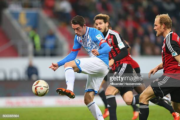 MarkAlexander Uth of Hoffenheim scores the first team goal during the Bundesliga match between FC Ingolstadt and TSG 1899 Hoffenheim at Audi...