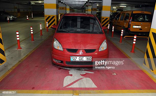 MarkAntalyaMall puts the special parking lot for ladies into practice in Antalya February 17 2014 450 pinked parking places are organized for ladies...