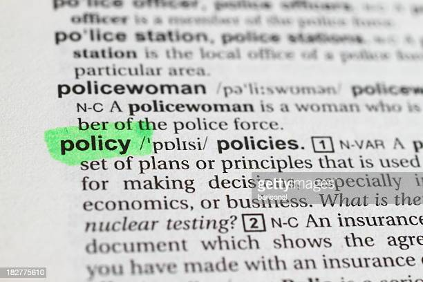 Marked Policy Word
